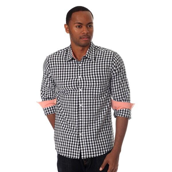 Filthy Etiquette Men's Long Sleeve Gingham Plaid Shirt
