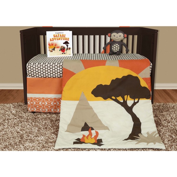 Snuggleberry Baby African Dream 5-piece Crib Bedding Set with Storybook 14823912