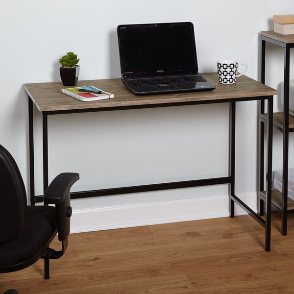 Simple Living Piazza Wood and Metal Desk - 16995294 - Overstock.com
