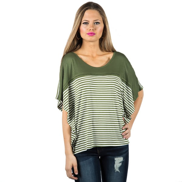 Women's Colorblock Striped Oversized Tee