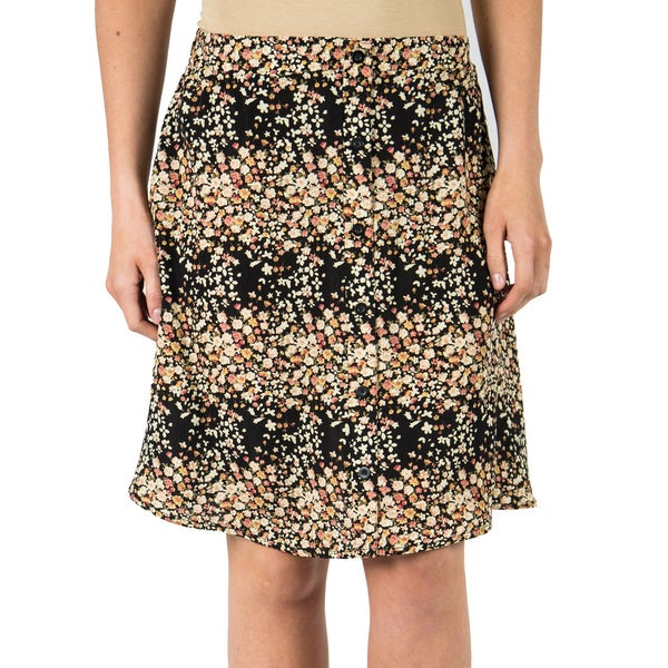 Women's Floral Button Front Rationale Skirt