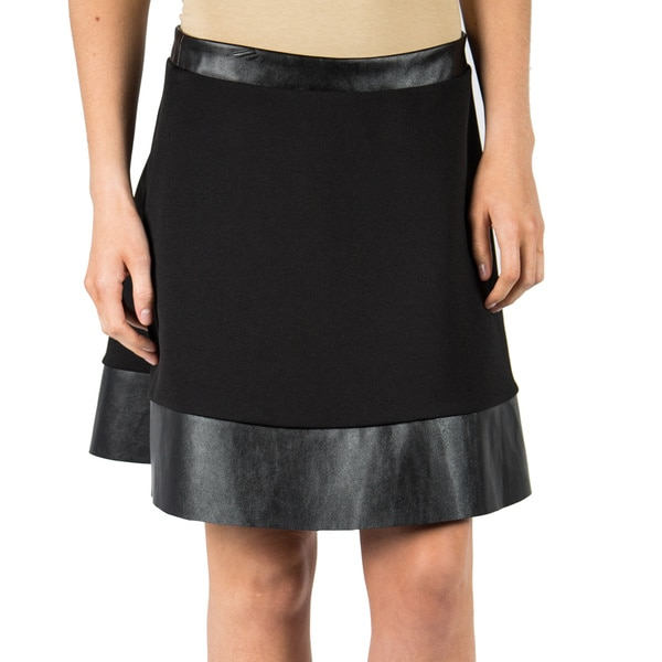 Women's Textured Knit Circle Skirt