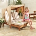 KidKraft Oatmeal/White Stripes Double Chaise Lounger