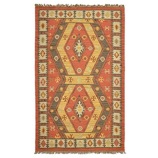 Kosas Collections Basil Indoor/ Outdoor Poly Kilim (5 x 8)