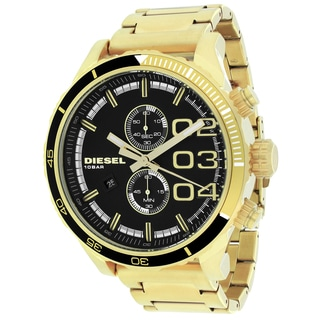 Diesel Men's DZ4337 Double down Round Goldtone Bracelet Watch