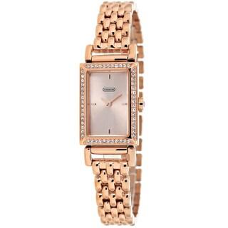 Coach Women's 14501811 Madison Rectangle Rosetone Bracelet Watch