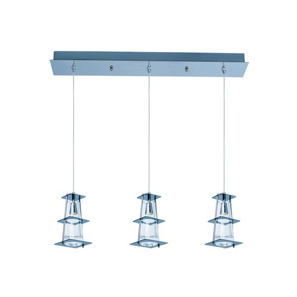 Maxim Lighting Flask 3-light Chrome LED Chandelier