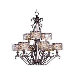 Maxim Lighting Mondrian 9-light Bronze Chandelier