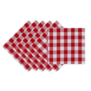 Tango Red Checkered Napkin (Set of 6)
