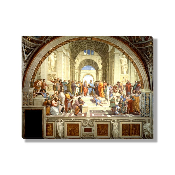 Raphael's 'The School of Athens' Gallery Wrapped Canvas