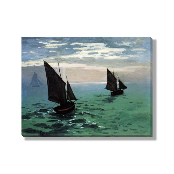 Claude Monet's 'Fishing Boats at Sea' Gallery Wrapped Canvas