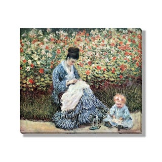 Gallery Direct Claude Monet's 'Camille Monet and a Child in the Artist's Garden in Argenteuil' Wrapped Canvas