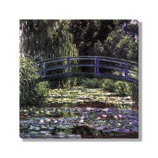 Gallery Direct Claude Monet's 'The Water Lily Pond (Japanese Bridge)' Gallery Wrapped Canvas