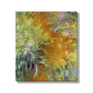 Gallery Direct Claude Monet's 'The Path through the Irises' Gallery Wrapped Canvas