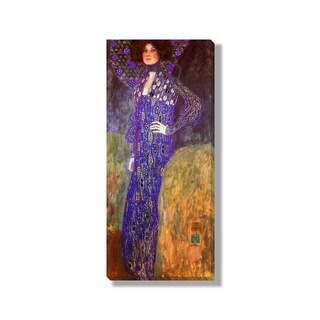 Gustave Klimt's 'Emilie Floege' Gallery Wrapped Canvas