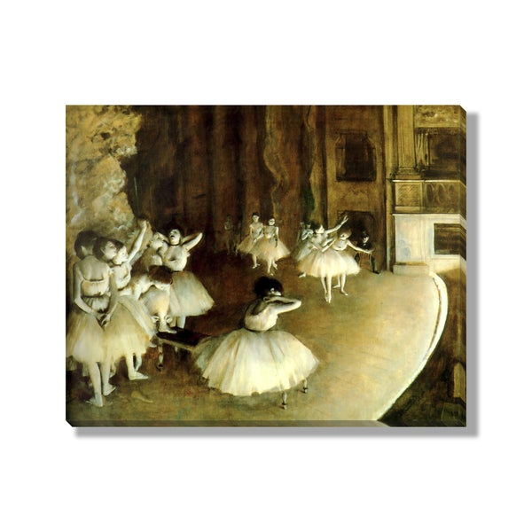 Edgar Degas' 'Ballet Rehearsal' Gallery Wrapped Canvas