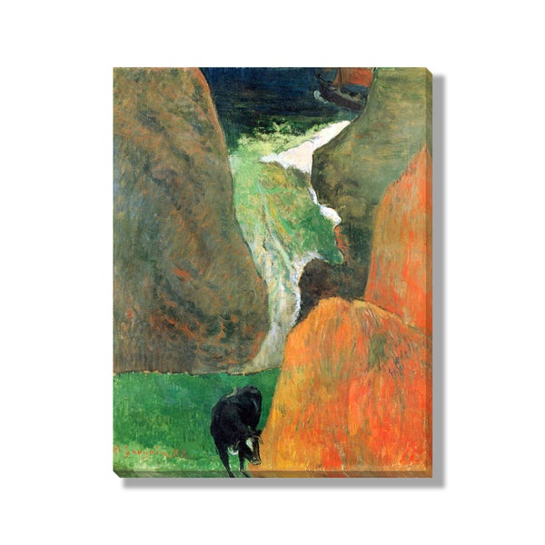 Paul Gauguin's 'Seascape with Cow on the Edge of a Cliff' Gallery-wrapped Canvas