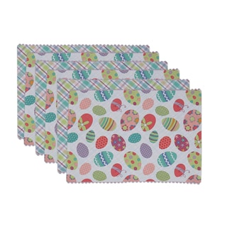 Easter Egg Embellished Reversible Placemats (Set of 6)