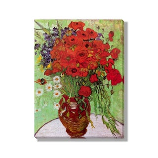 Gallery Direct Vincent Van Gogh's 'Still Life - Red Poppies and Daisies' Gallery Wrapped Canvas