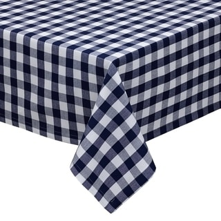 Nautical and White Checkers Tablecloth