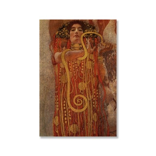 Gustav Klimt's 'Hygieia' Print on Wood