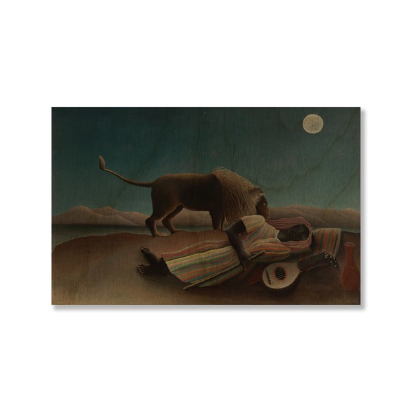 Henri Rousseau's 'The Sleeping Gypsy' Print on Wood