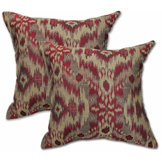 Big Tree Furniture Sumatra Brick 22-inch Decorative Throw Pillow (Set of 2)
