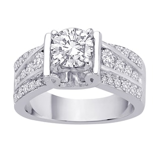 14k White Gold 4/5ct TDW Diamond Engagement Ring (G-H, I1-I2)