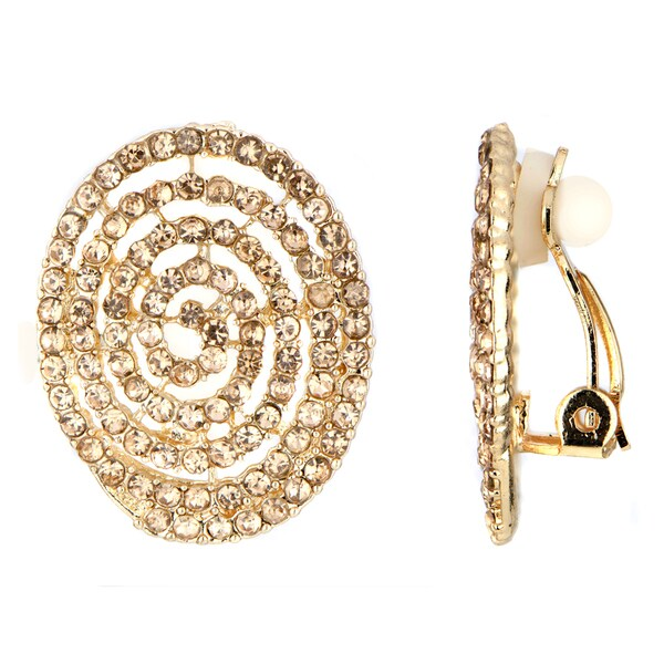 Spiral Button Clip-on Earrings