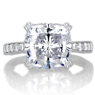 Sterling Silver Cubic Zirconia 5ct TGW Engagement Ring