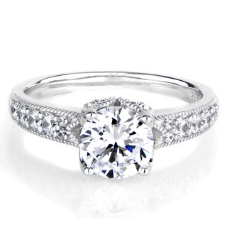 Sterling Silver 2ct TGW Round-cut Cubic Zirconia Ring