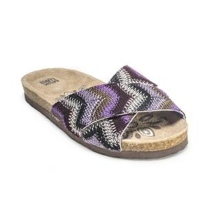 Muk Luks Women's 'Dolly' Purple Cross-over Sandals