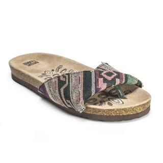 Muk Luks Women's 'Lucy' Mint Folded Strap Sandals