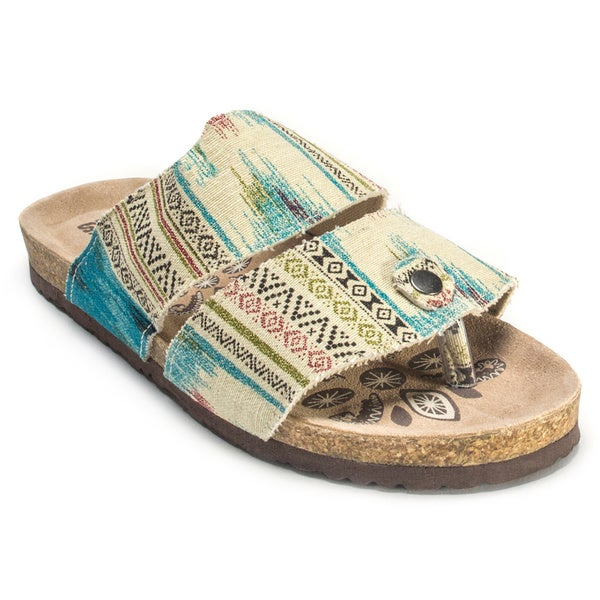 Muk Luks Women's 'Claire' Tan Duo Strap Sandals