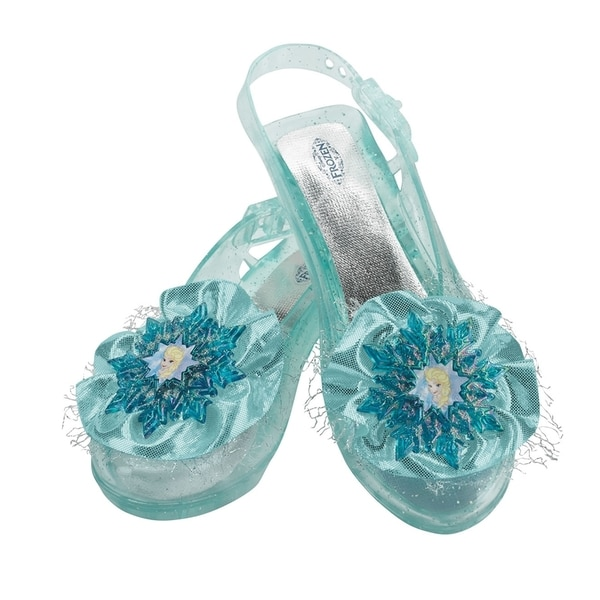 Girl's Disney's 'Frozen' Blue Elsa Flats