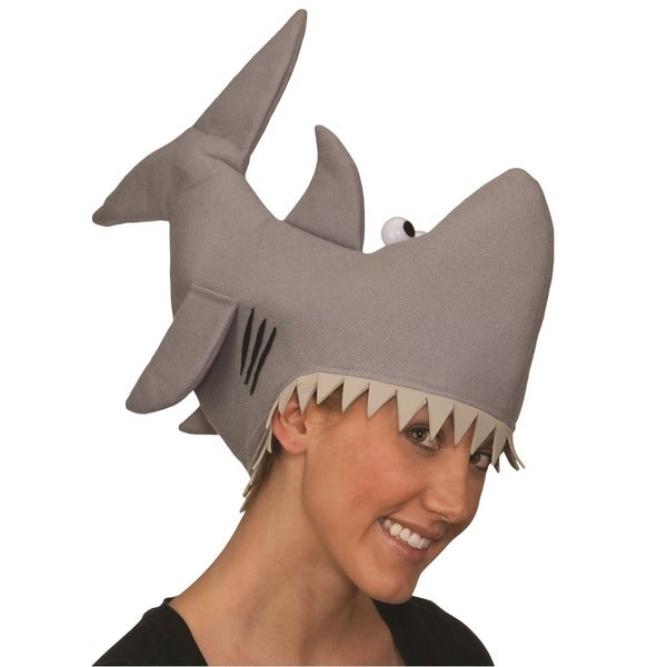 Grey Shark Bite Attack Costume Hat