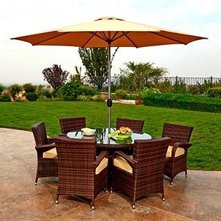 Obero 8-piece Outdoor Wicker Dining Set