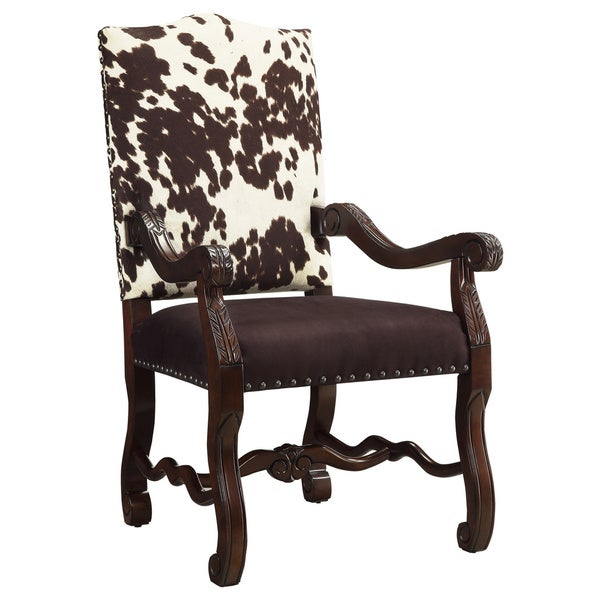 Christopher Knight Home Byron Espresso and White Cow Print Chair