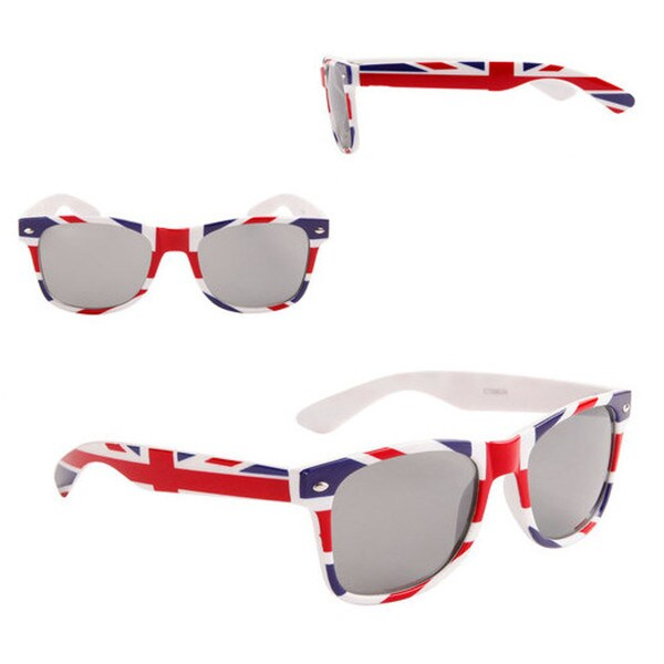 Unisex Red/ White/ Blue British Flag Square Sunglasses