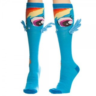 Adult My Little Pony Rainbow Dash Blue Knee High Socks with Wings
