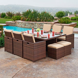 Yuca 11-piece Outdoor Wicker Dining Set