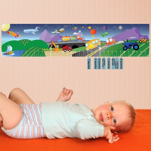 Transportation Baby Growth Chart