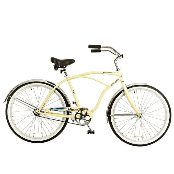 Titan Docksider Single Speed Men's Beach Cruiser Bicycle