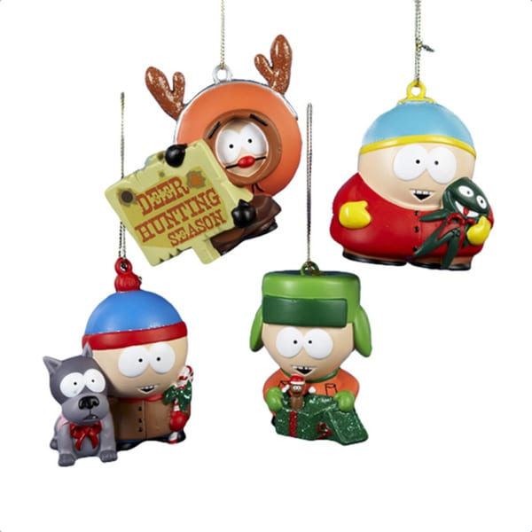 South Park Stan, Kyle, Kenny and Cartman Hanging Christmas Ornament Set