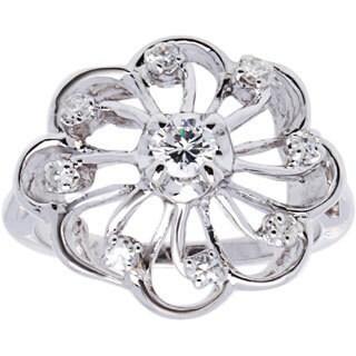 14k White Gold 1/3ct TDW Diamond Ferris Wheel Estate Ring (H-I, VS1-VS2/ Size 5.75)