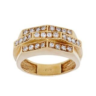 18k Yellow Gold 1/2ct TDW Diamond Multi-bar Estate Ring (H-I, SI1-SI2/ Size 7.25)