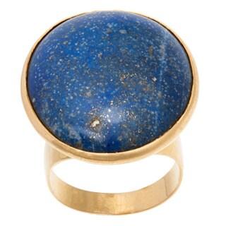 18k Yellow Gold Blue Lapis Estate Ring (Size 7.25)
