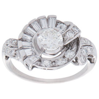 Pre-owned 14K White Gold 1 1/4ct TDW Diamond Ballerina Estate Ring (H-I, VS1-VS2)