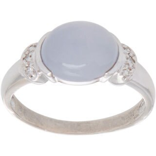 Pre-owned 14K White Gold Star Sapphire Cocktail Ring (Size 8.25)