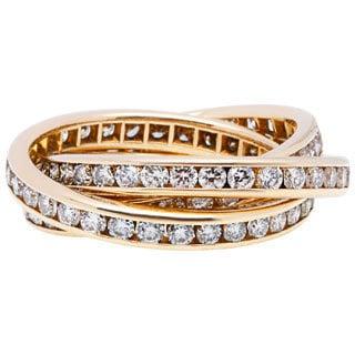 14K Yellow Gold 2 1/2ct TDW Trinity Estate Eternity Rings (G-H, VS1-VS2) (Size 6.5)